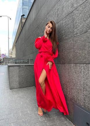 Волшебной красоты шёлковое платье на запах.2 фото