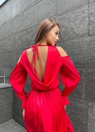 Волшебной красоты шёлковое платье на запах.4 фото