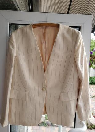 Льняной пиджак next. 52-56