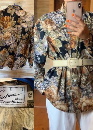 Valentino  эксклюзив  peter hahn винтажная рубашка оригинал