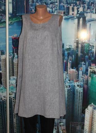 Платье лен+вискоза