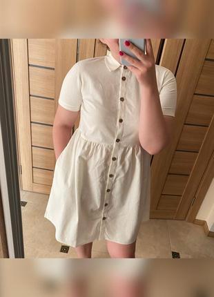 Лляна сукня вільного фасону