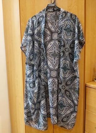 Пляжная туника накидка кимоно