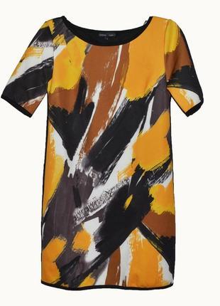 Платье a-силуэта с ярким принтом, короткий рукав nina by jbc