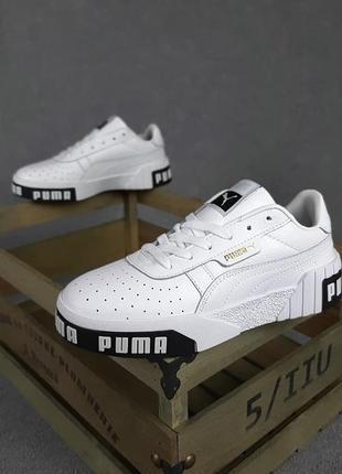 Puma cali🆕женские кожаные кроссовки пума кали🆕черно-белые кеды-кроссовки5 фото