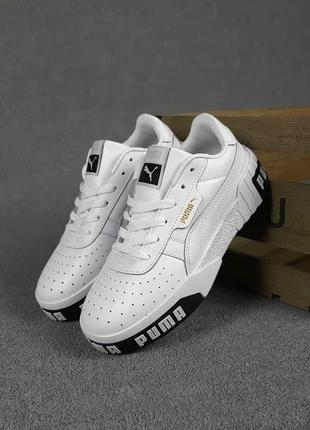 Puma cali🆕женские кожаные кроссовки пума кали🆕черно-белые кеды-кроссовки