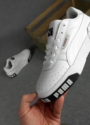 Puma cali🆕женские кожаные кроссовки пума кали🆕черно-белые кеды-кроссовки8 фото