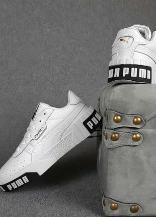Puma cali🆕женские кожаные кроссовки пума кали🆕черно-белые кеды-кроссовки3 фото