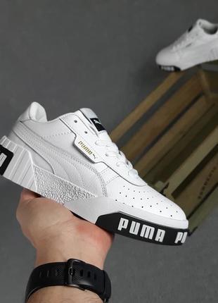 Puma cali🆕женские кожаные кроссовки пума кали🆕черно-белые кеды-кроссовки2 фото