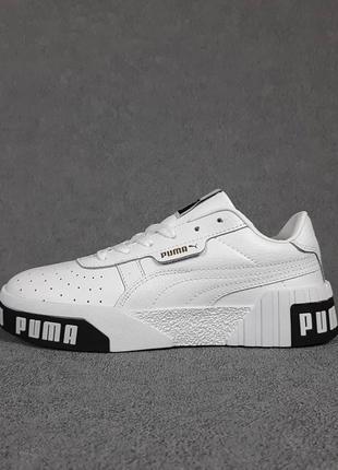 Puma cali🆕женские кожаные кроссовки пума кали🆕черно-белые кеды-кроссовки9 фото