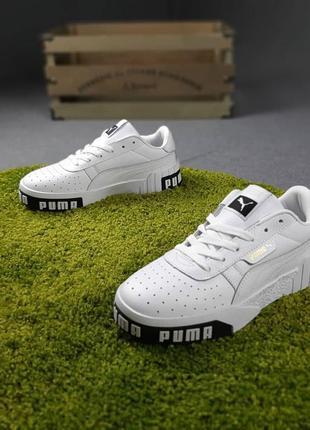 Puma cali🆕женские кожаные кроссовки пума кали🆕черно-белые кеды-кроссовки4 фото
