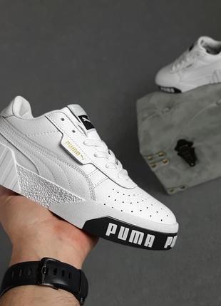 Puma cali🆕женские кожаные кроссовки пума кали🆕черно-белые кеды-кроссовки7 фото