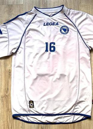 Мужская винтажная футбольная джерси legea bosnia and herzegovina