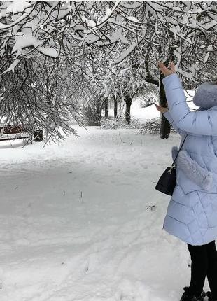 Зимняя женский плащ