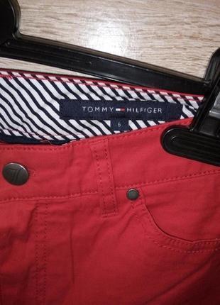 Красные джинсы брюки штаны tommy hillfiger 27/28