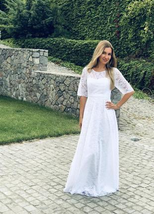 Свадебное платье большой размер