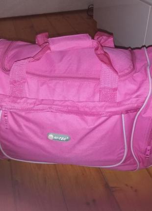 Спортивная сумка hi-tec красивый яркий розовый цвет