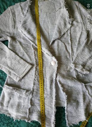 Кардиган,пиджак с люрексом,блестит, размер л.