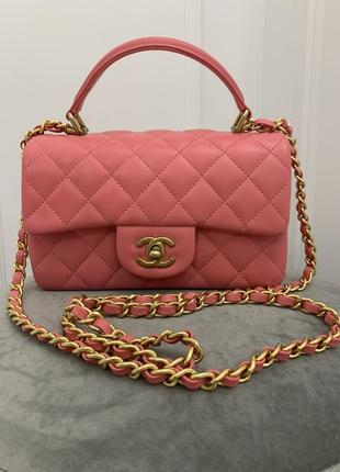 Сумка chanel mini flap bag with top handle