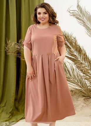 Легкое платье на лето размеры 52-54,56-58,60-62,64-66 (8-310)