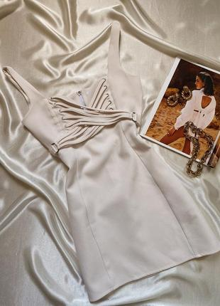 Молочное платье мини missguided