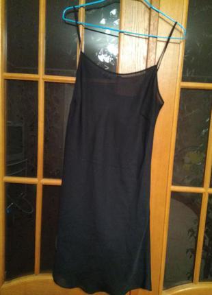 Комбинация рубашка чёрная  красивая секси нижнее белье бельё ночная сорочка