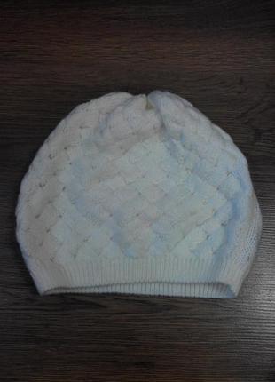 Белая шапка-берет м&s