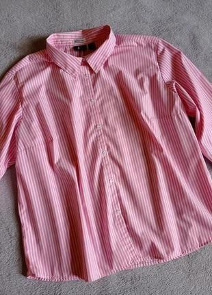 Рубашка в полоску большой размер батвл