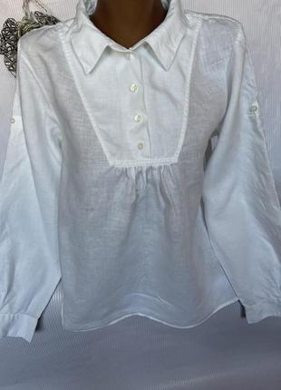 Стильная рубашка  100% лен, gap