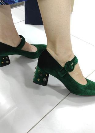 Туфли велюровые geox оригинал!!! италия зеленые