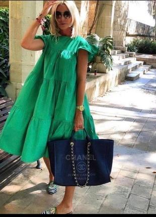 Котоновое платье сарафан