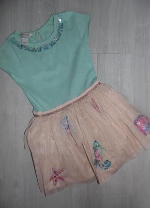 Красивое платье monsoon 3-4г