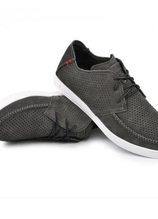 Мокасины, туфли мужские, серые