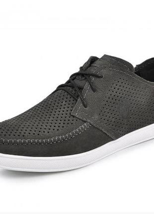 Мокасины, туфли мужские, серые2 фото