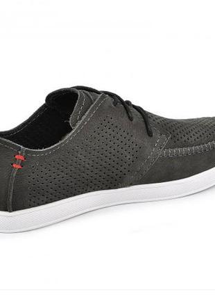 Мокасины, туфли мужские, серые3 фото