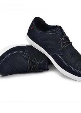 Мокасины, туфли мужские, темно-синие