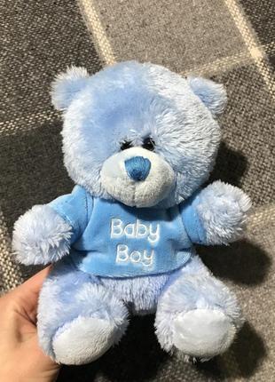 Детская мягкая игрушка (мишка) (идеал оригинал голубая)