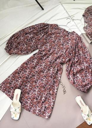 Актуальна сукня з об'ємними рукавами від next