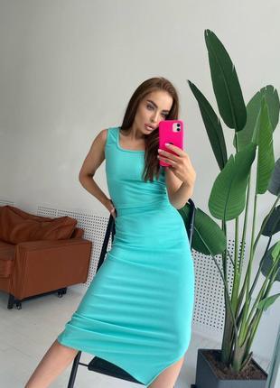 Костюм топ-майка юбка миди 4 цвета
