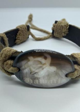 Кожаный браслет украшение