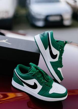 Хит продаж женские кроссовки nike jordan 1 low pine green наложка