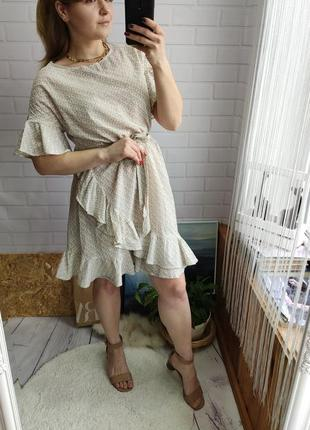 Нежное лёгкое платье hm с воланами
