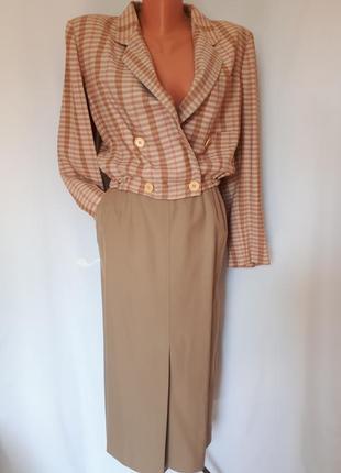 Эксклюзивный костюм оригинал пиджак- бомбер+юбка giorgio armani