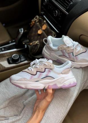 Adidas ozweego pink женские кроссовки наложка