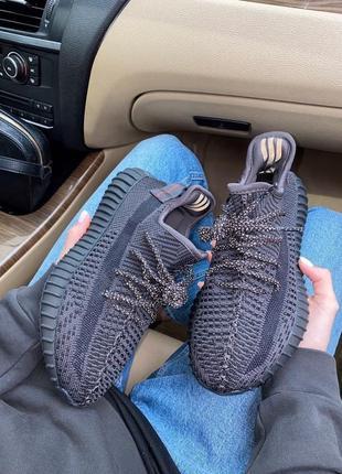 Adidas yeezy boost 350 black женские кроссовки наложка