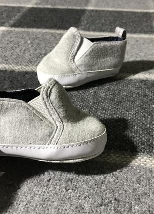 Детские пинетки primark ( примарк 3-6 месяцев идеал оригинал серые)