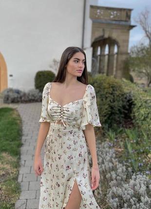 Женское атласное шёлковое платье сукня зара