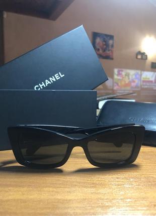 Чёрные очки шанель классика оригинал chanel original