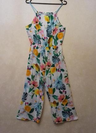 H&m / 100% вискоза комбинезон с кюлотами /сарафан юбка брюки