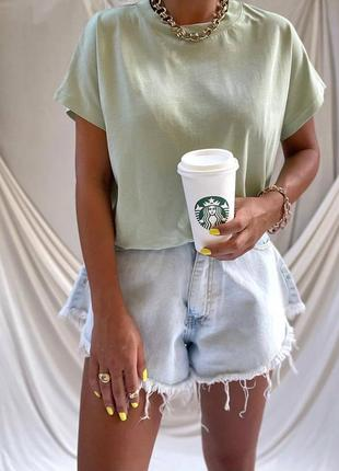 Женские шорты юбка с бахромой высокая посадка